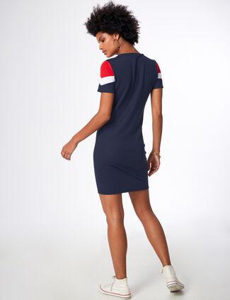 ... robe tricolore bleu marine, blanc et rouge 20508efe3c48