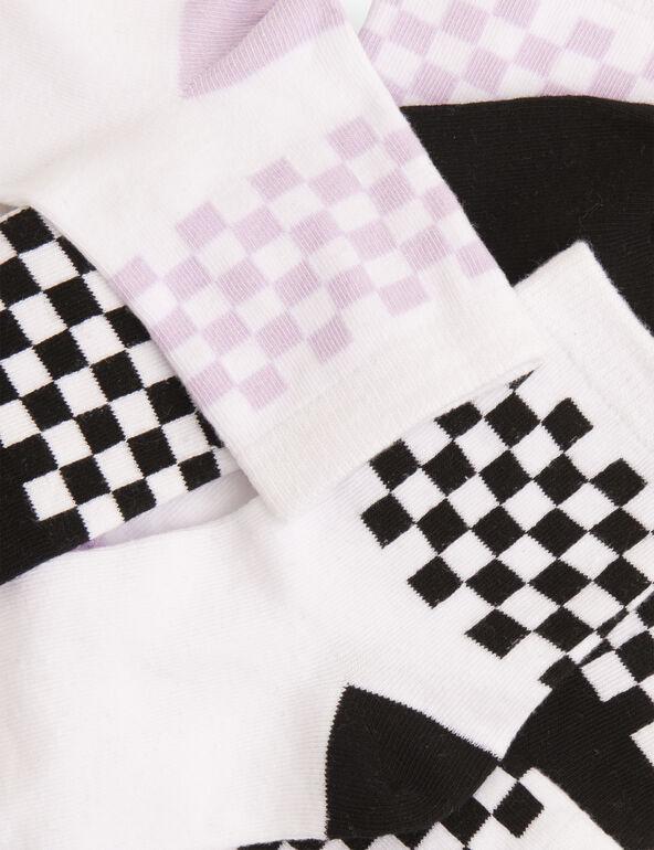 Chaussettes hautes à motifs