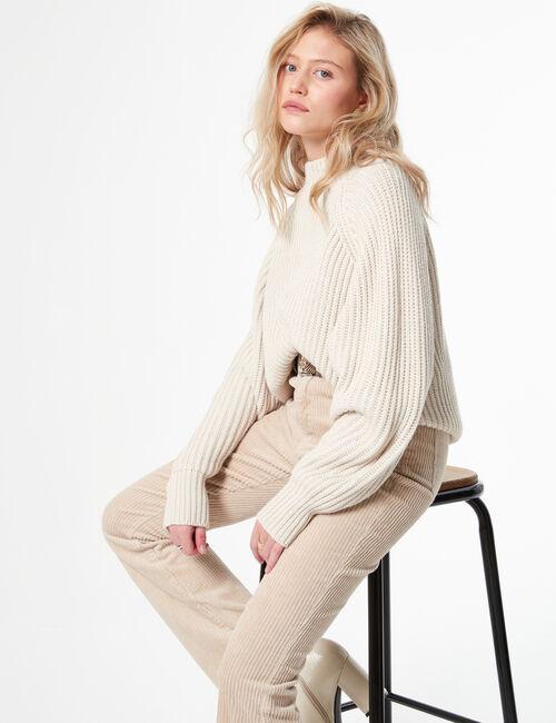 Loose-fit high-neck jumper