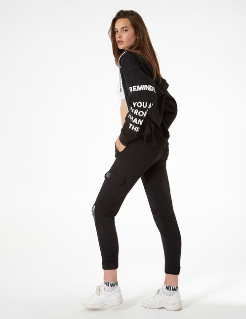 combat sweatsuit with message
