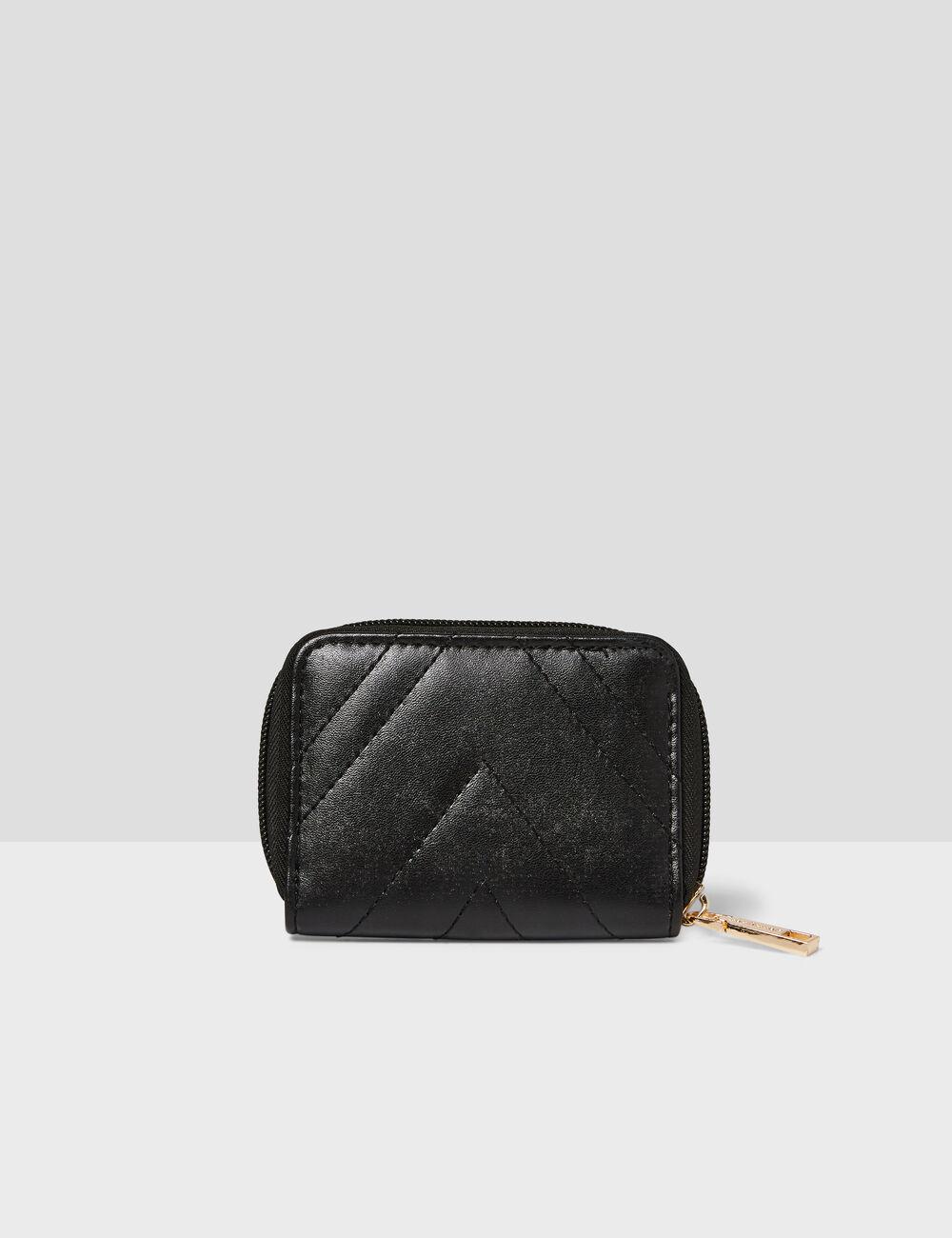 Porte-monnaie avec découpes noire femme • Jennyfer 3d75bddbfac