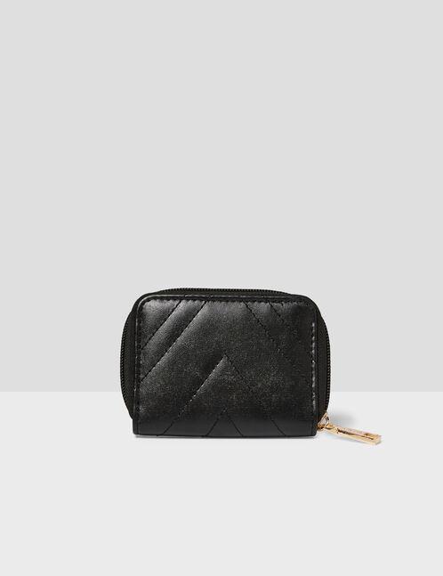 Black purse with seam detail