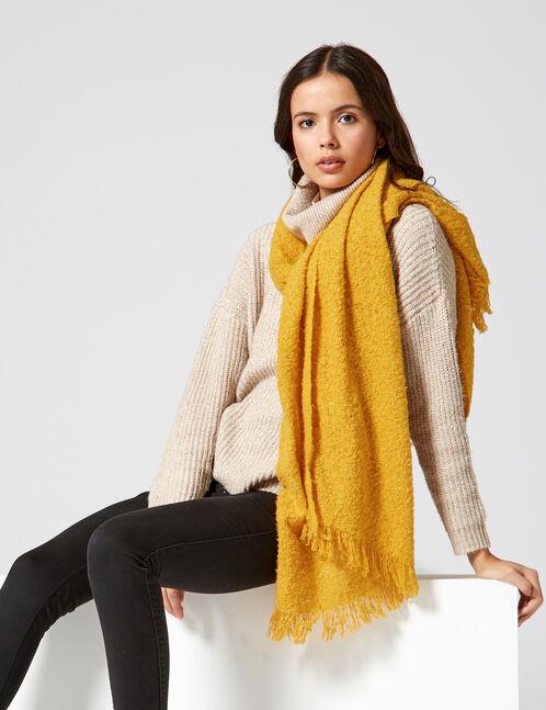 Ochre textured scarf