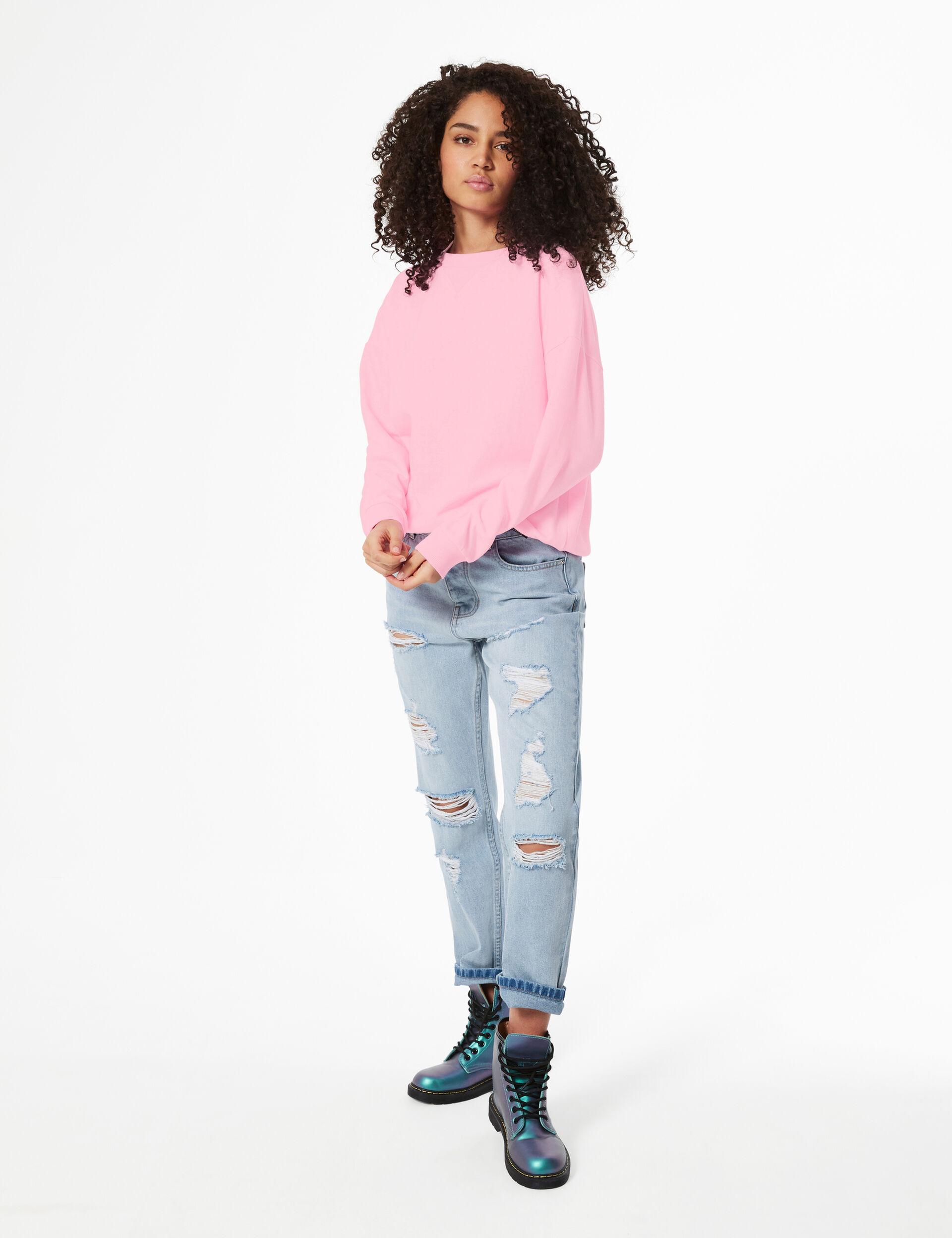Sweatshirt with panel detail