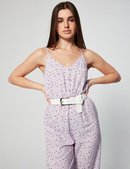 Printed loose fit jumpsuit