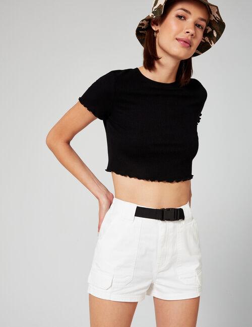 Belted cargo shorts