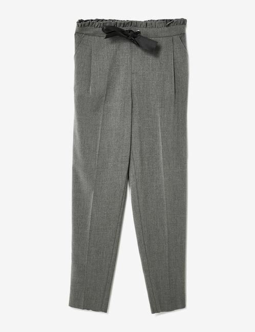 pantalon avec noeud satin gris femme jennyfer. Black Bedroom Furniture Sets. Home Design Ideas