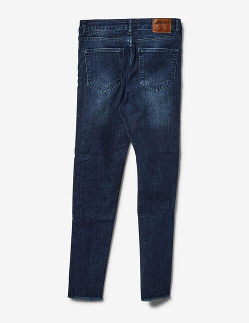 jean avec rayures côtés bleu foncé et vert