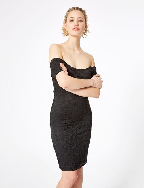 robe dentelle à nouer dos noire