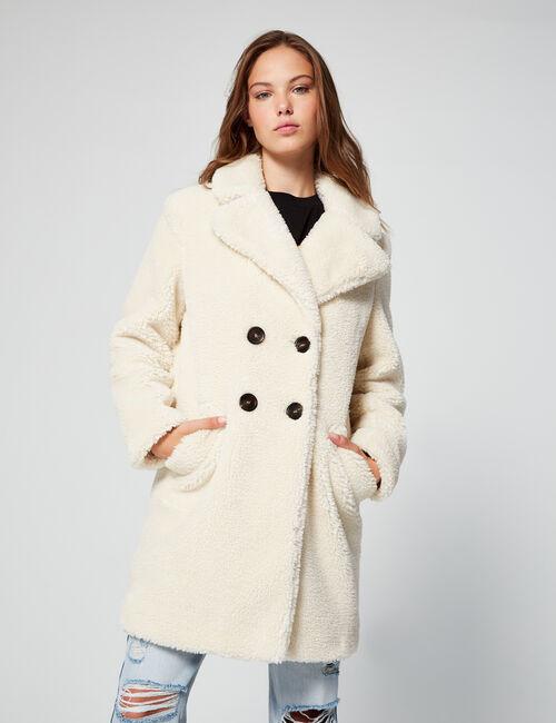 Imitation-sheepskin coat