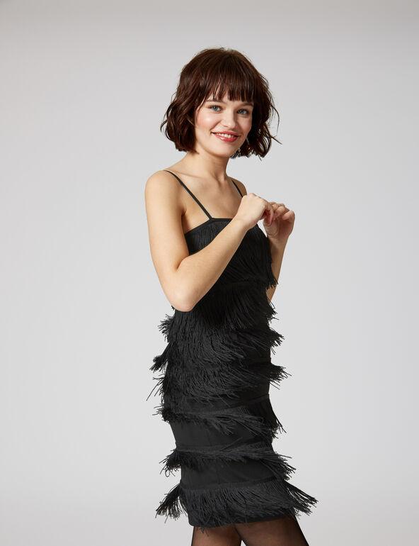 robe à franges noire