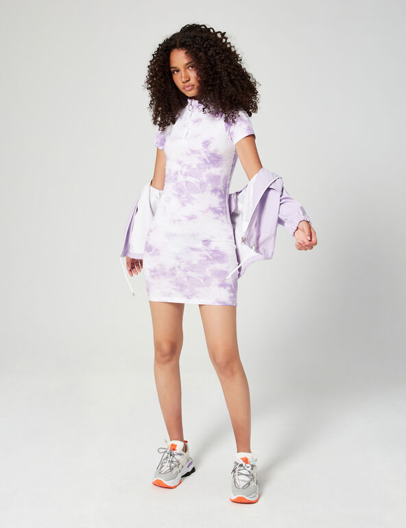 Robe zippée tie and dye