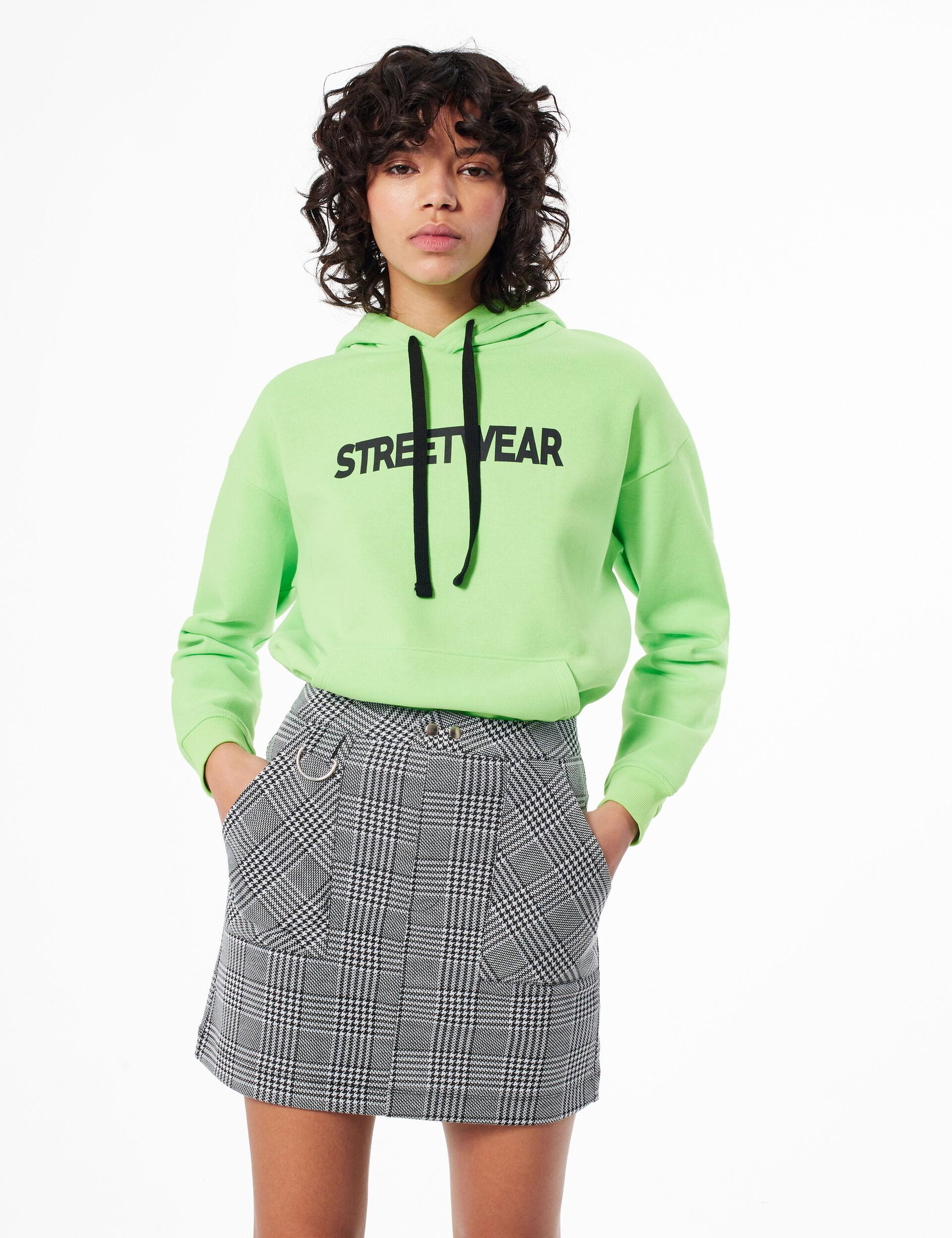 Houndstooth print skirt
