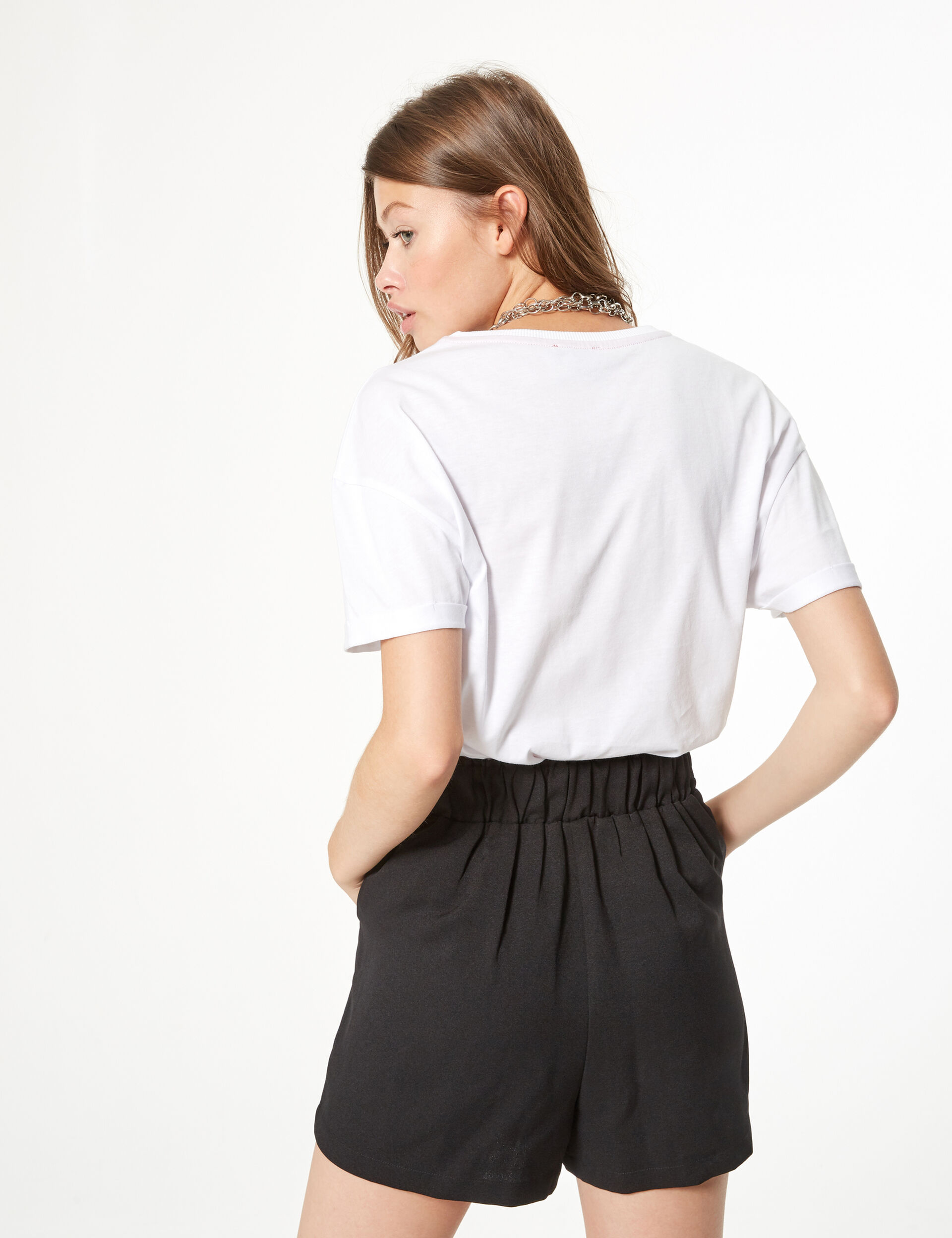 T-shirt with pearl detail