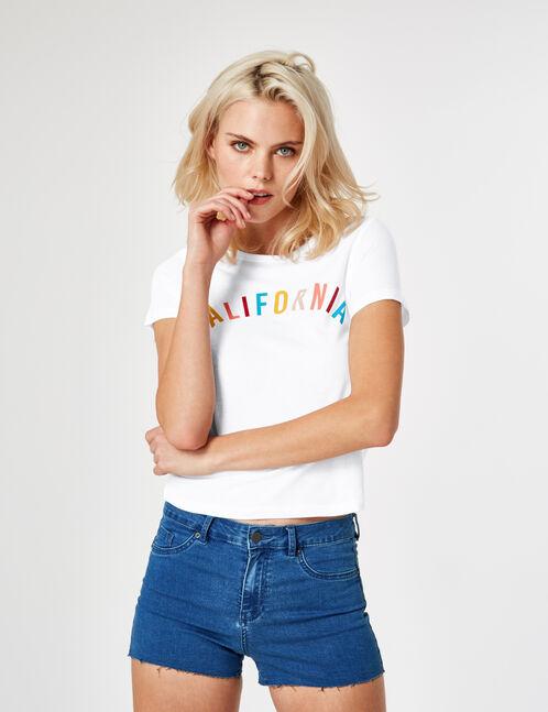 tee-shirt california blanc