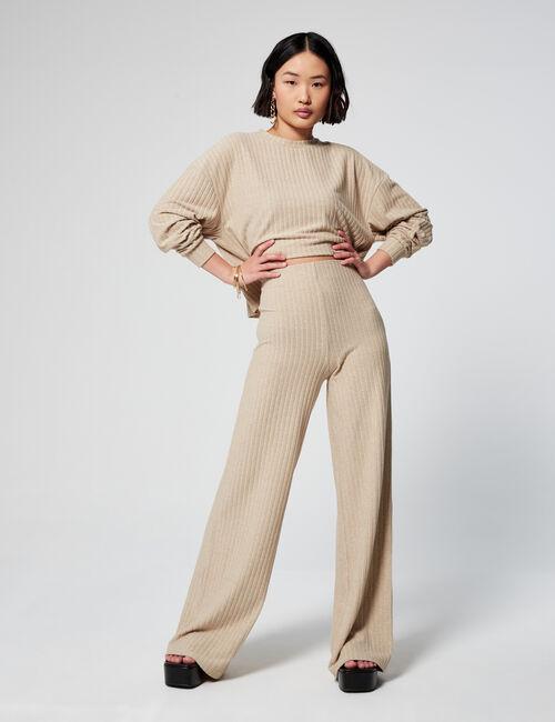 Pantalon ajusté côtelé
