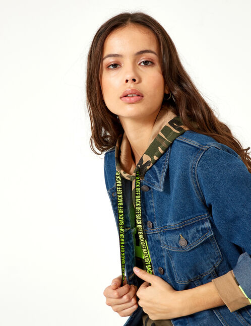 veste en jean medium blue