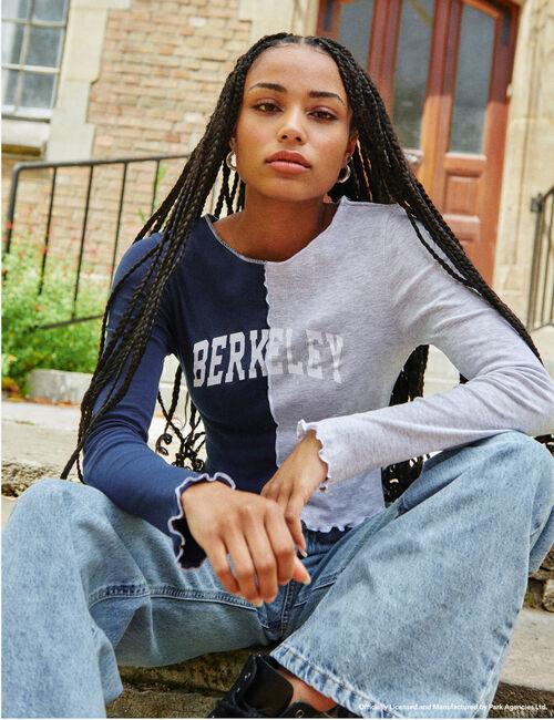 Tee-shirt Berkeley finitions surpiquées bicolore