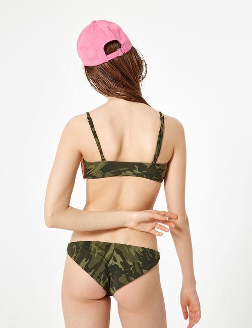 Khaki camouflage bikini set