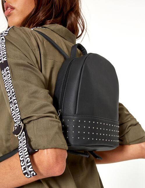 sac à dos clouté noir