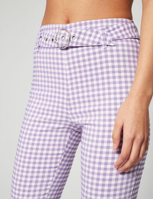 Pantalon évasé vichy