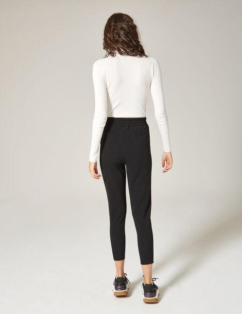 pantalon en crêpe noir
