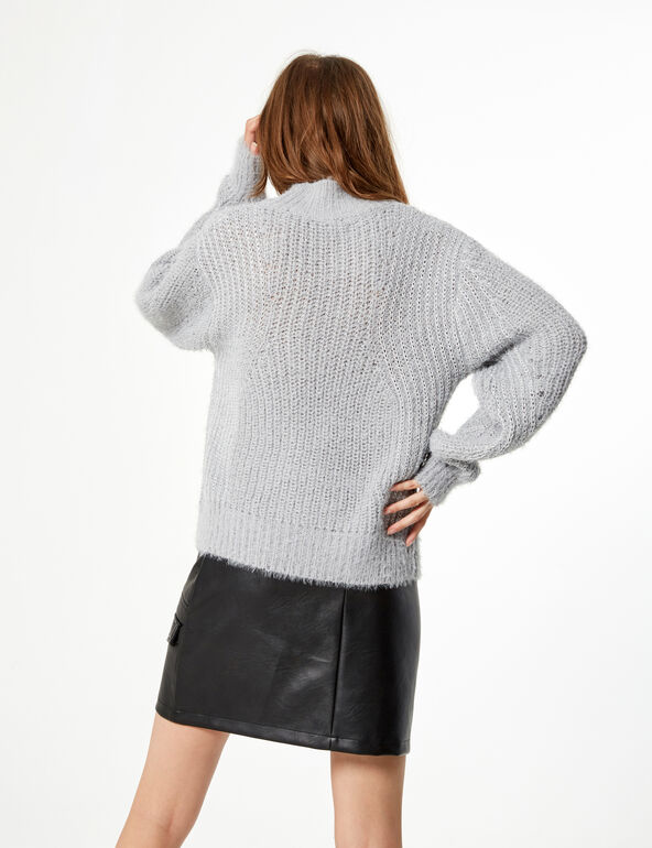 Woven knit lurex jumper