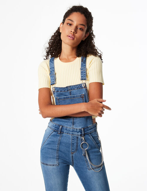Skinny dungarees with chains