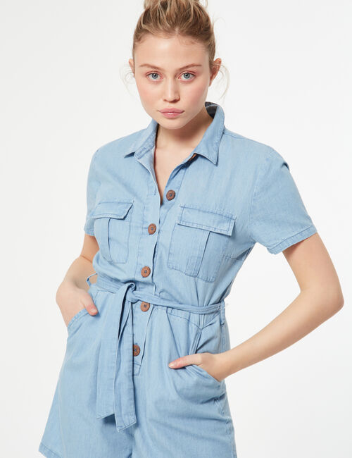 Button-down playsuit