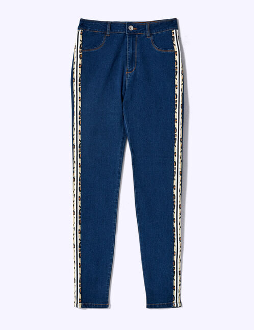 jegging bandes léopard medium blue