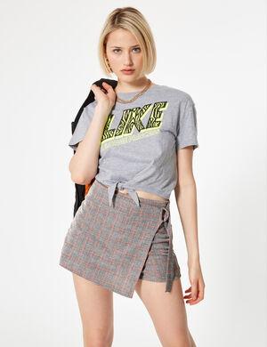 010a6a6313c Jennyfer. Nouveau jupe short à carreaux rose et grise