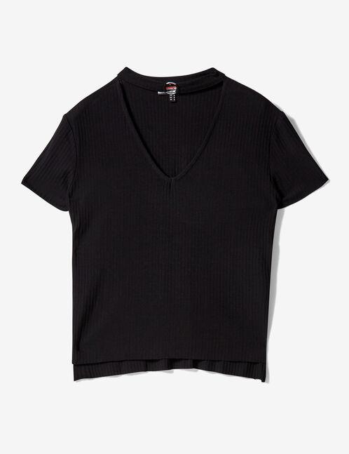 Tee-shirt avec boucle noir