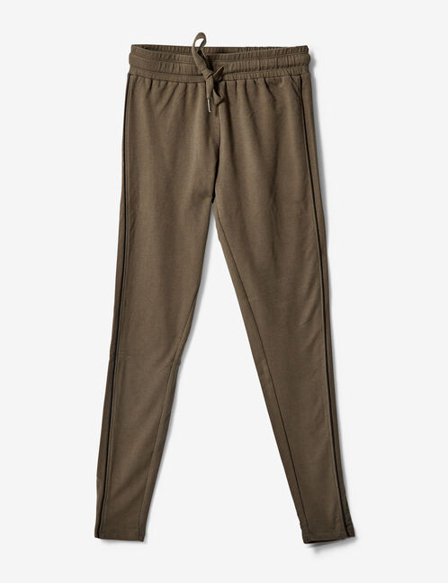 Khaki slim-fit joggers