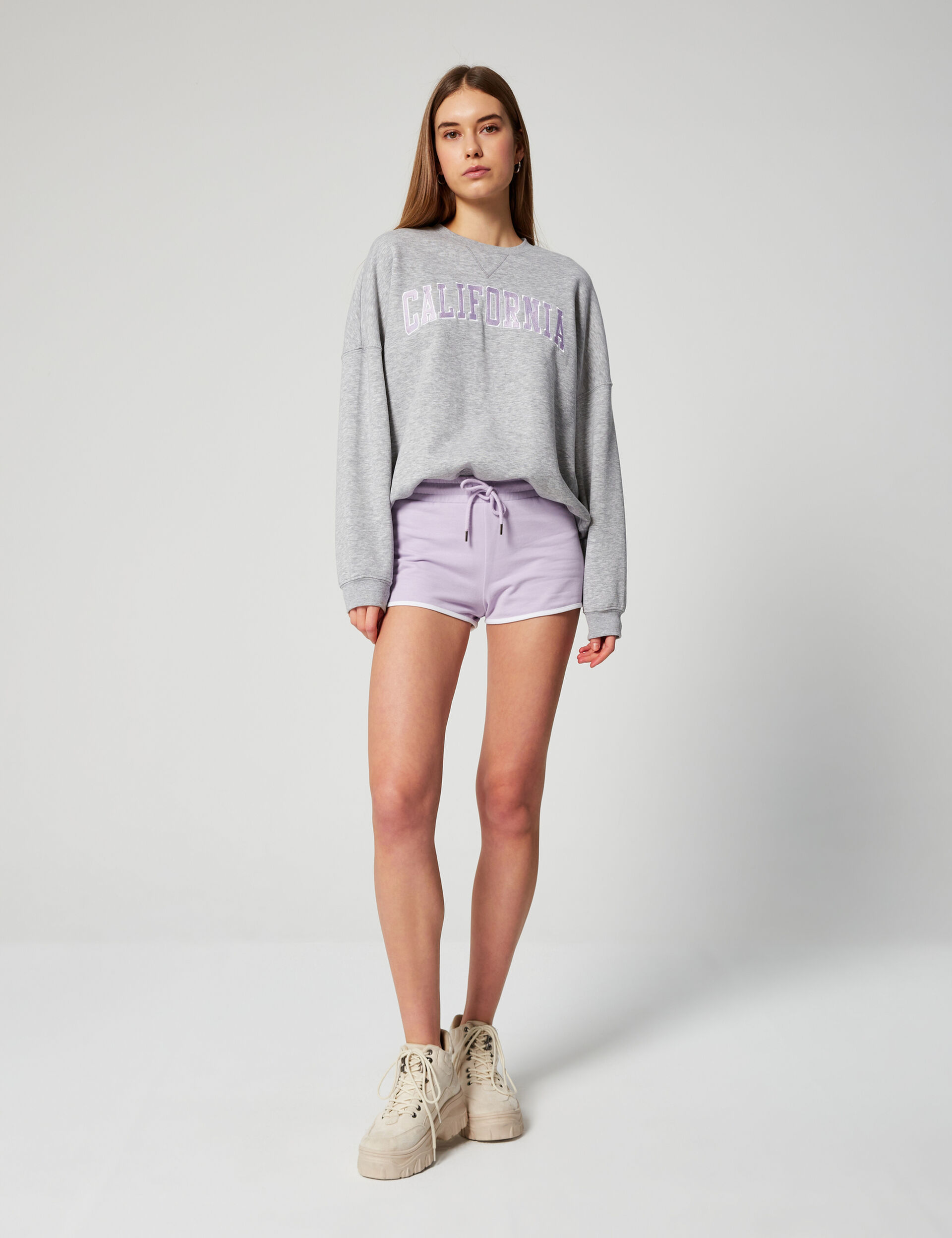 Shorts with stripe detail