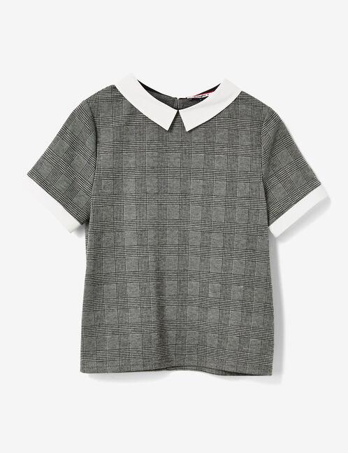 tee-shirt col blanc prince de galles