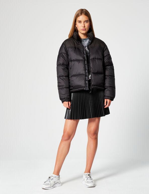 High-necked padded jacket