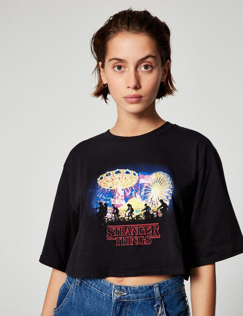 Stranger Things cropped T-shirt