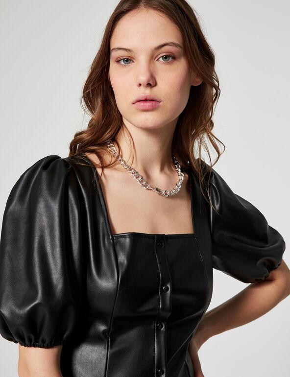 Imitation leather top