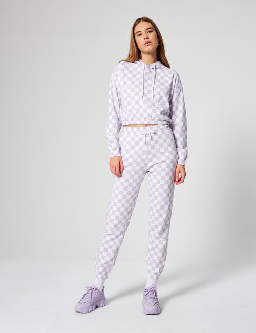 Chequered joggers