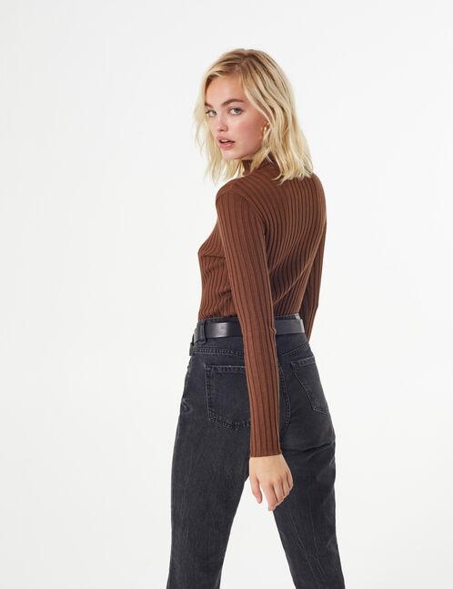 basic rib-knit jumper
