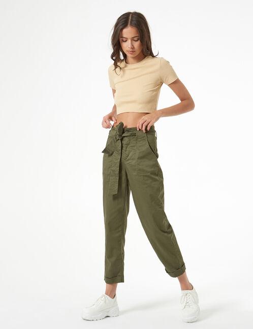 pantalon avec ceinture