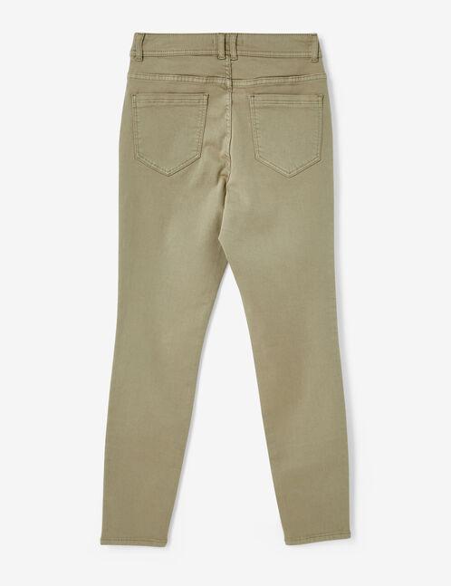 pantalon taille haute vert clair