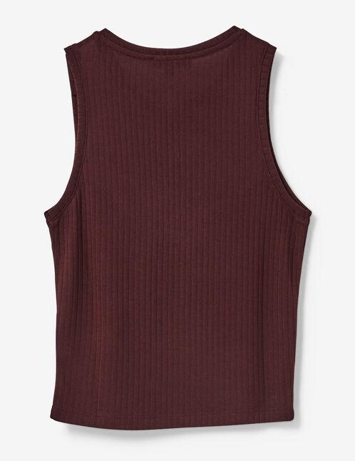 Burgundy zipped top