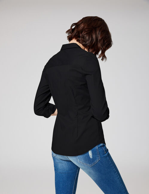chemise basic noir