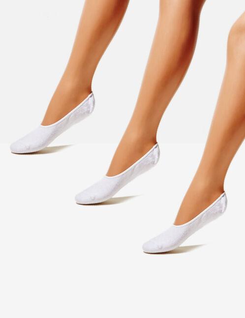 White invisible socks