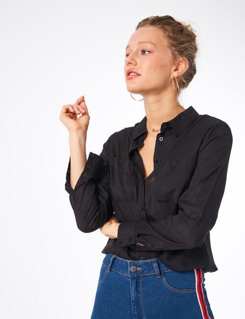 chemise basic noire
