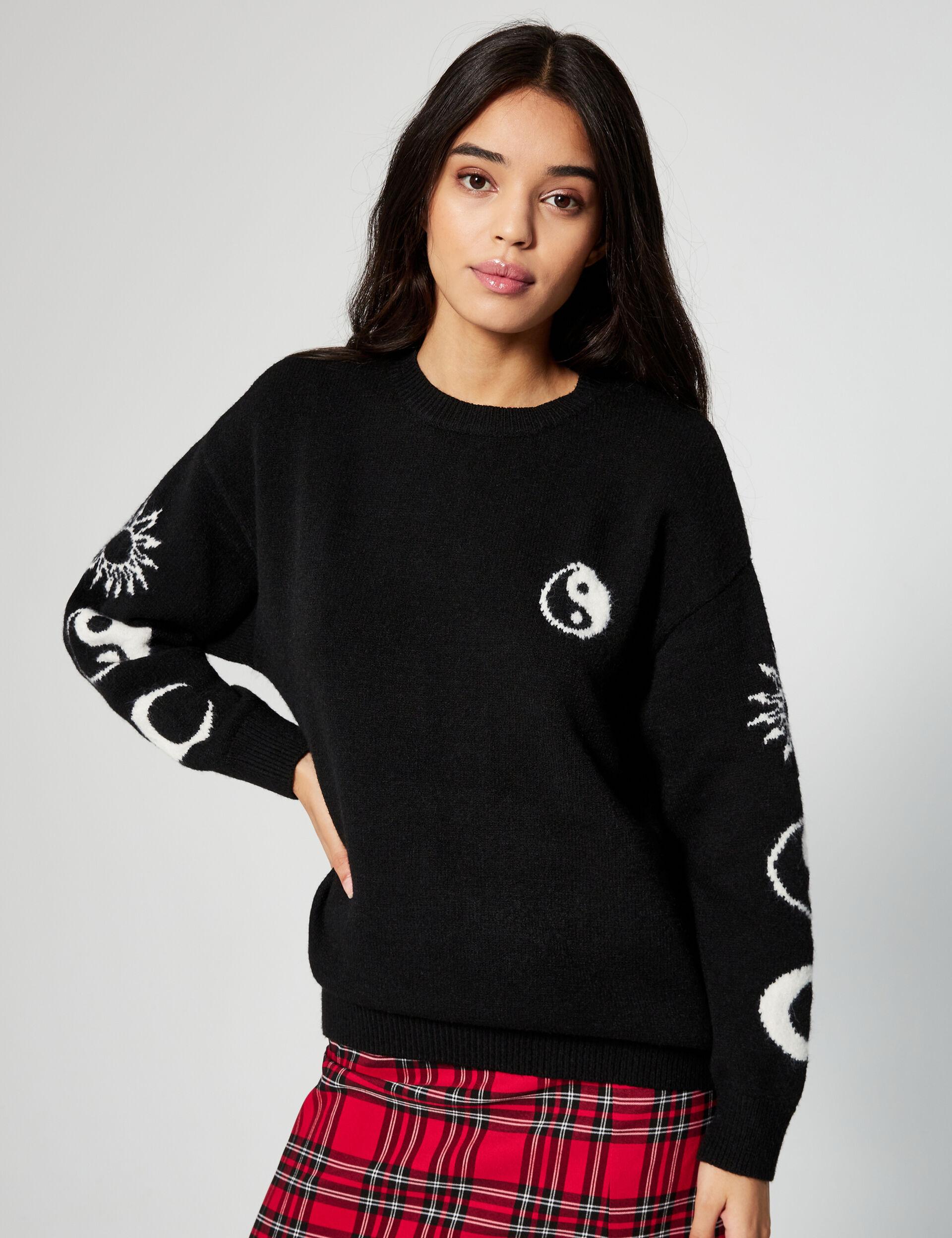 Patterned loose-fit jumper