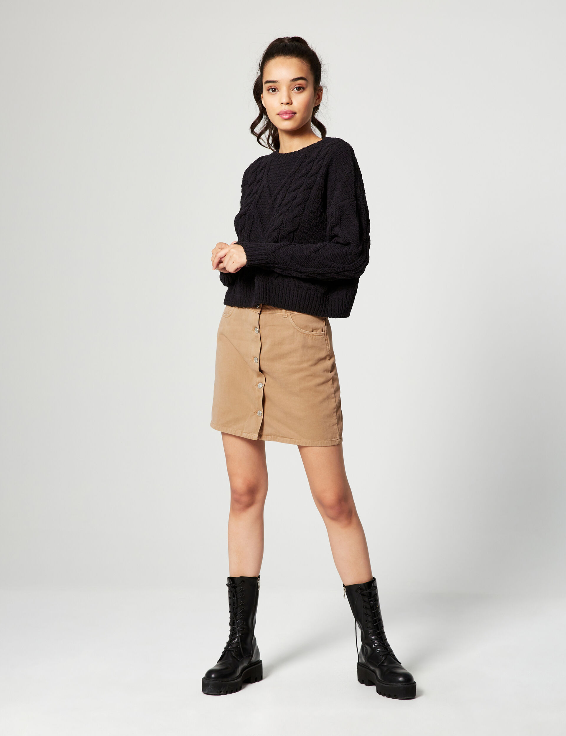 Buttoned skirt