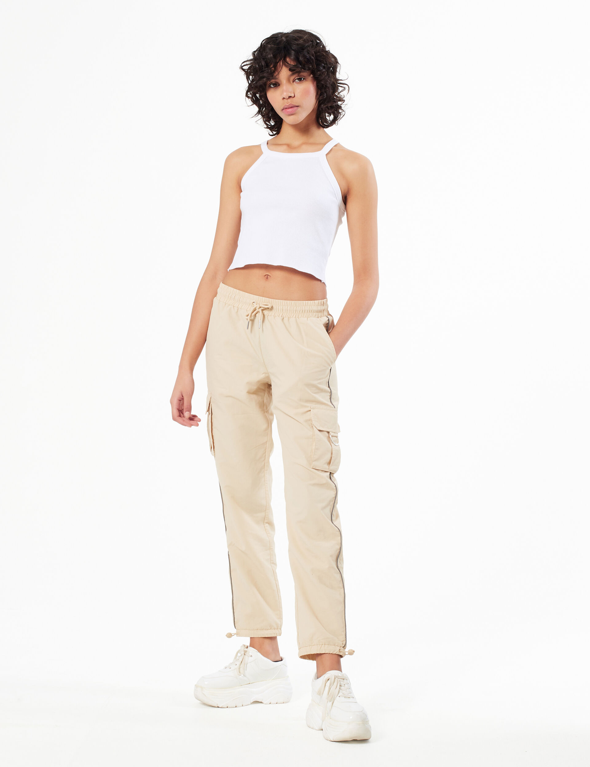 Joggers with trim detail