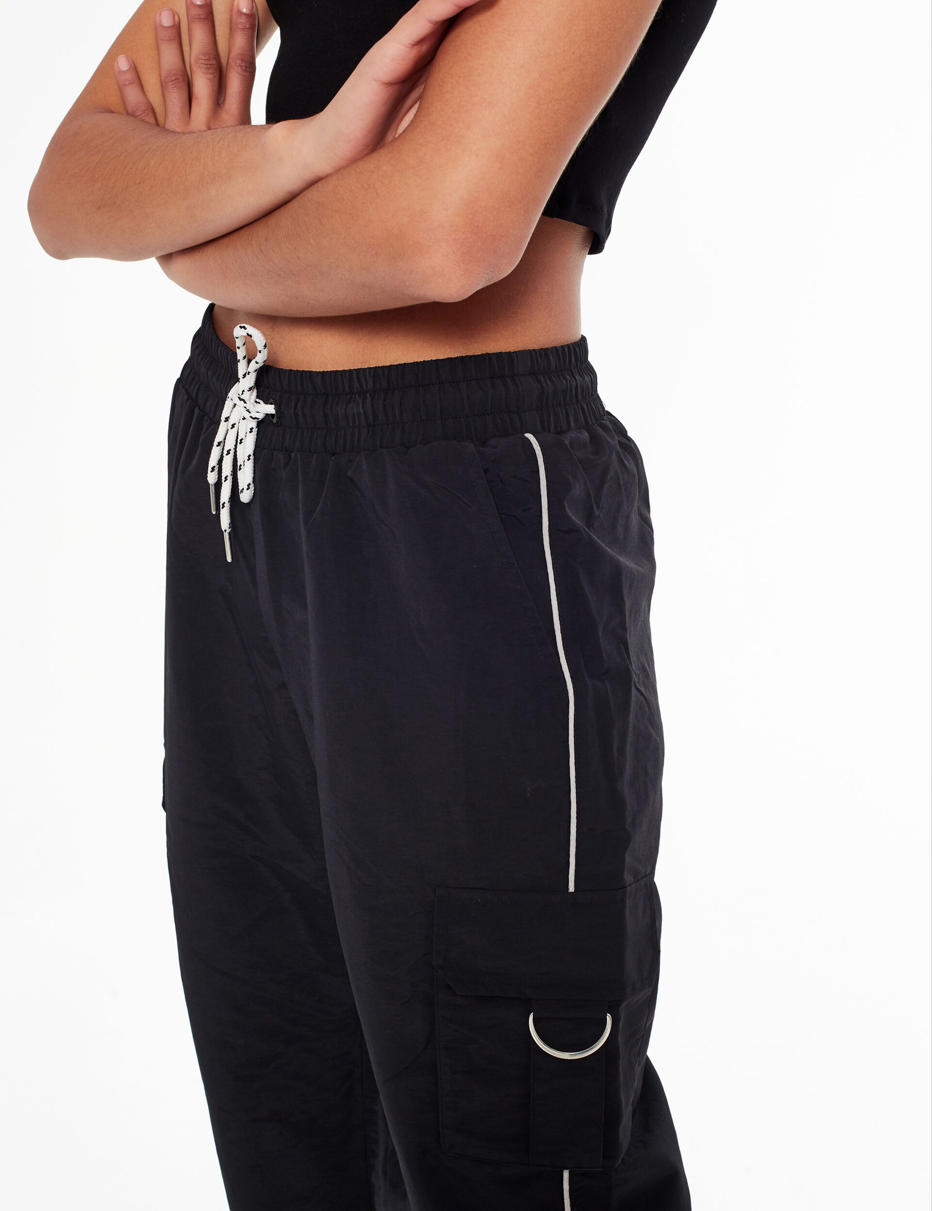 Joggers with reflective trim detail
